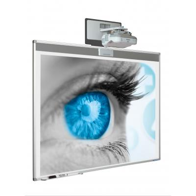 "Smit Visual 13015.400 Whiteboard = 201cm x 128cm - 83"" Diag - Projector Not Included"